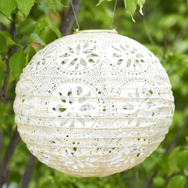 Floral Lace Solar Lantern (€36) ❤ liked on Polyvore featuring home, outdoors, outdoor lighting, cream, solar powered outdoor lights, stainless steel outdoor lighting, solar powered lantern, outdoor solar light and outdoor solar lanterns