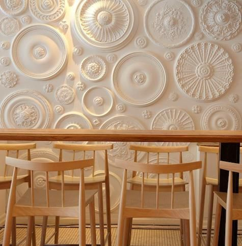 Ceiling rose wall art.