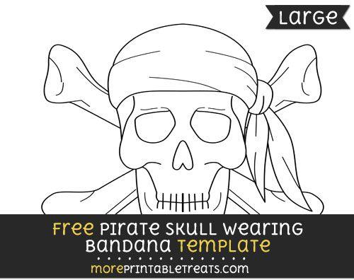 Free Pirate Cranium Sporting Bandana Template – Massive