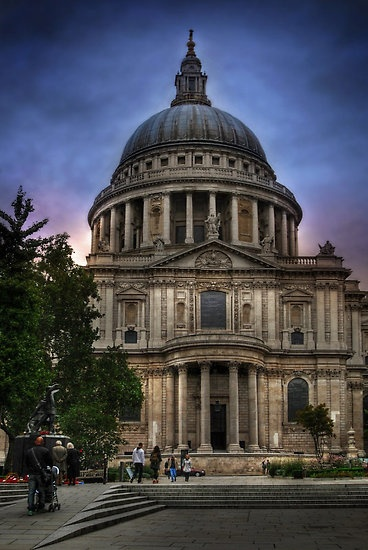 St Paul's Cathedral - London   -   Its dedicated to Paul the Apostle  -  sits on the site of 4 or 5 earlier churches possibly dating back to Roman times but the more accepted date seems to be 604 AD  -    (by Yhun Suarez)
