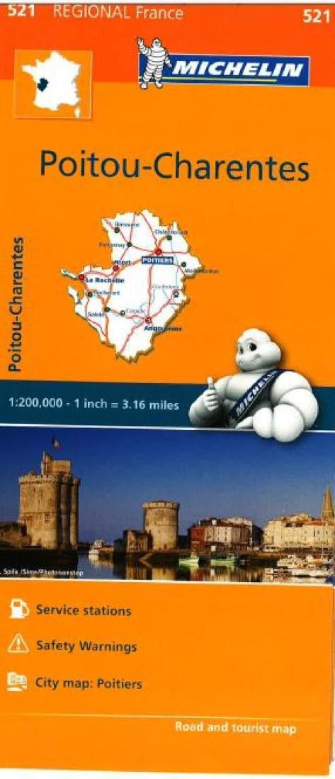 Map Of Poitiers%0A Poitou  Charentes       by Michelin Maps and Guides