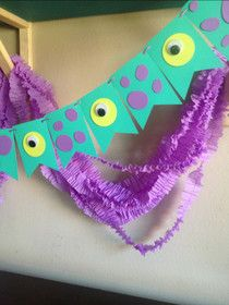 Monsters Inc Party Garland and Ruffled Streamers