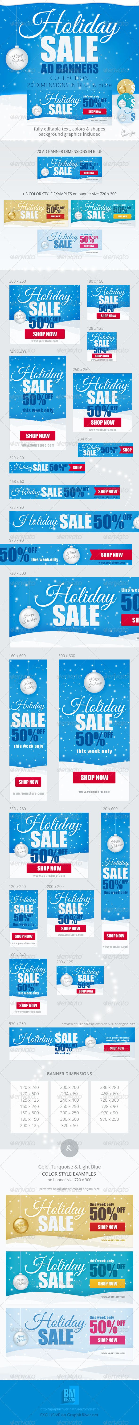 Holiday Sale Web Ad Banners Template PSD | Buy and Download: http://graphicriver.net/item/holiday-sale-web-ad-banners/6211368?WT.ac=category_thumb&WT.z_author=bmdezzin&ref=ksioks