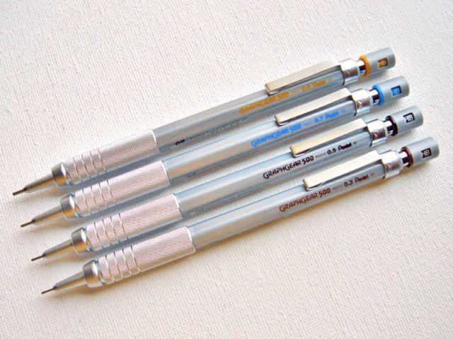 Pentel GraphGear 500 Mechanical Pencil Brown 0.3 mm