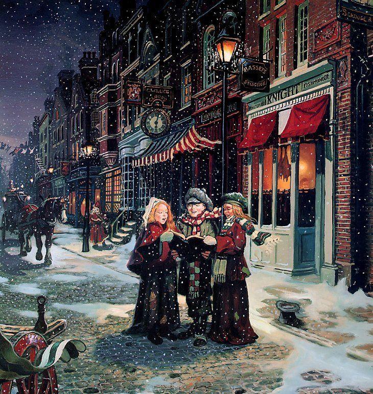 CHRISTMAS SHOPPING - Carolers entertaining