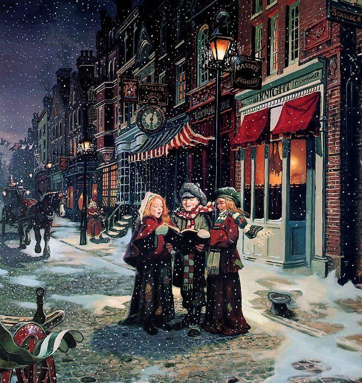 CHRISTMAS SHOPPING - Carolers entertaining