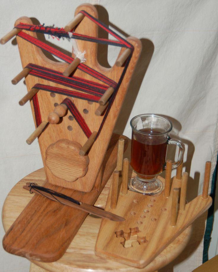 Beautiful Wood Weaving Tools. Keel Looms, Inkle Looms, Box