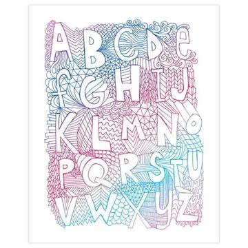 ポスター/alphabet by Nate Duval