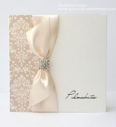 wedding invitations with damask pattern