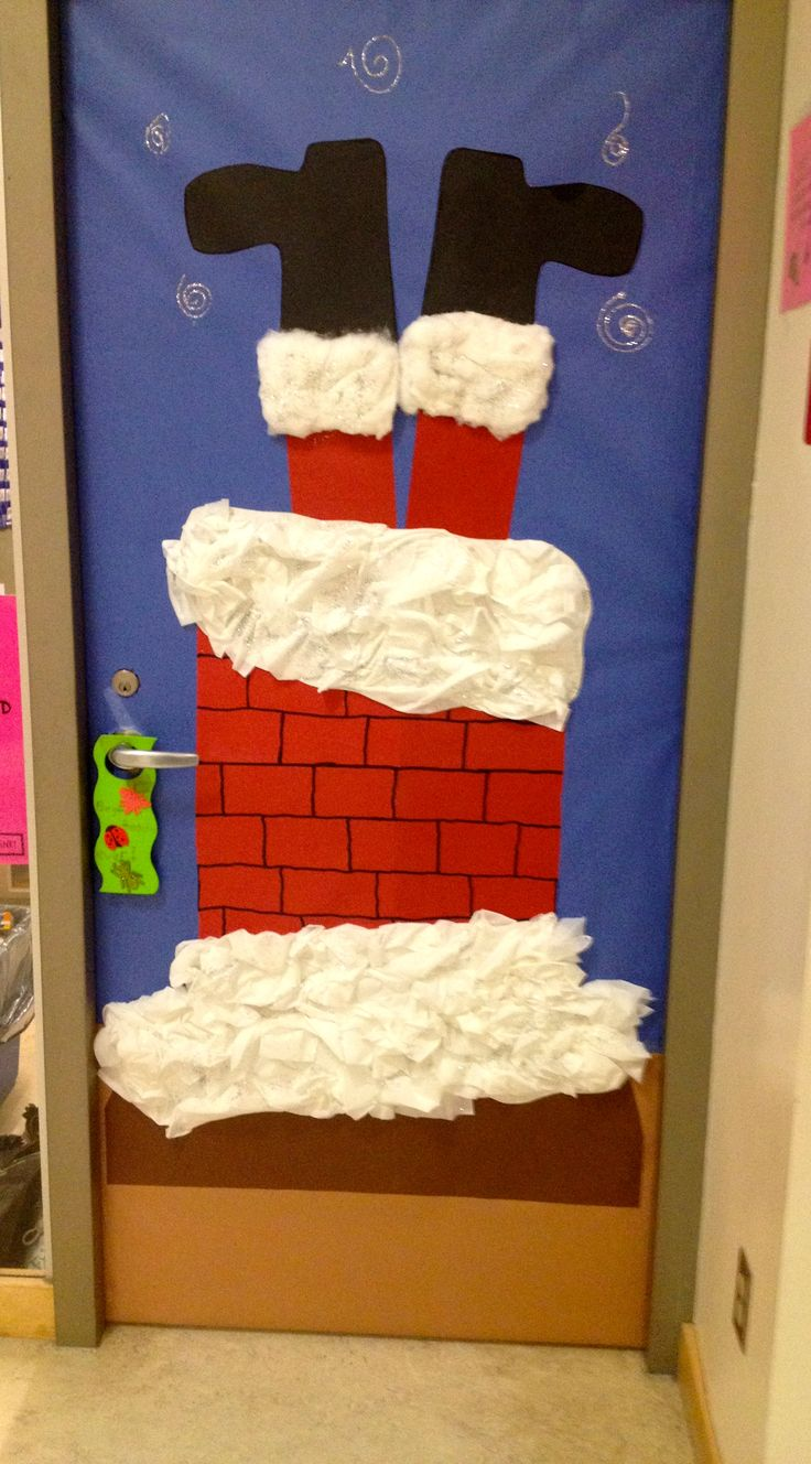Christmas door decoration 3 projects to try pinterest for Decoration porte noel ecole