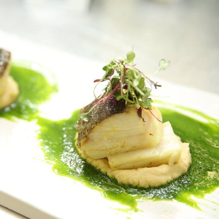 Codfish,  Soft Polenta, Salsa Verde.