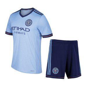New York City FC 2017-18 Season Home Light Blue NYCFC Kit [J864]