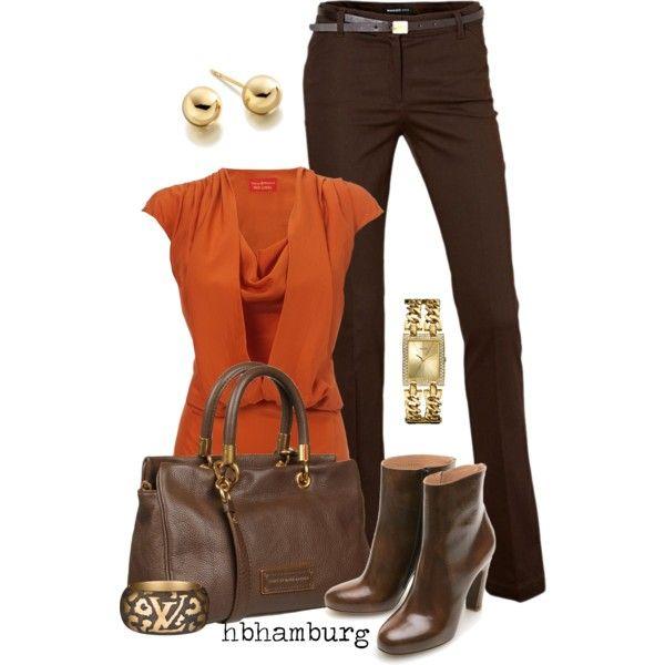 Brown & Orange