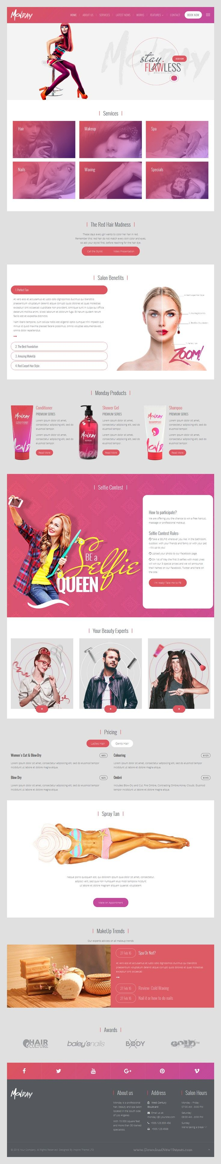 IT Monday - Professional HTML Template for Hair and Beauty Salon, Fashion, Spa…