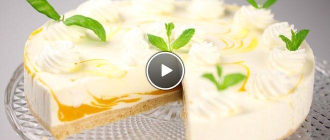 Yoghurt mango taart van Rudolph
