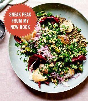 Chicken, olive, lentil & radicchio salad | Karen Martini