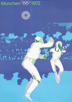 Aicher, Otl poster: Olympic Games 1972 - Fencing