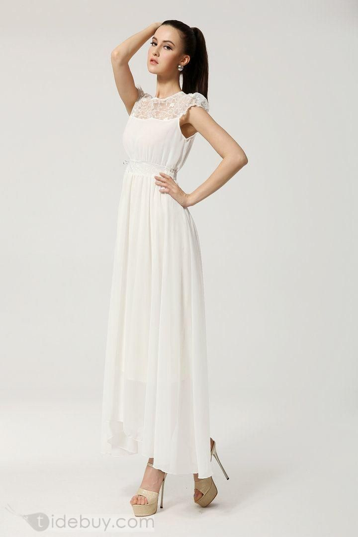 New Elegant Celebrity Maxi Lace Large Size Dress : Tidebuy.com