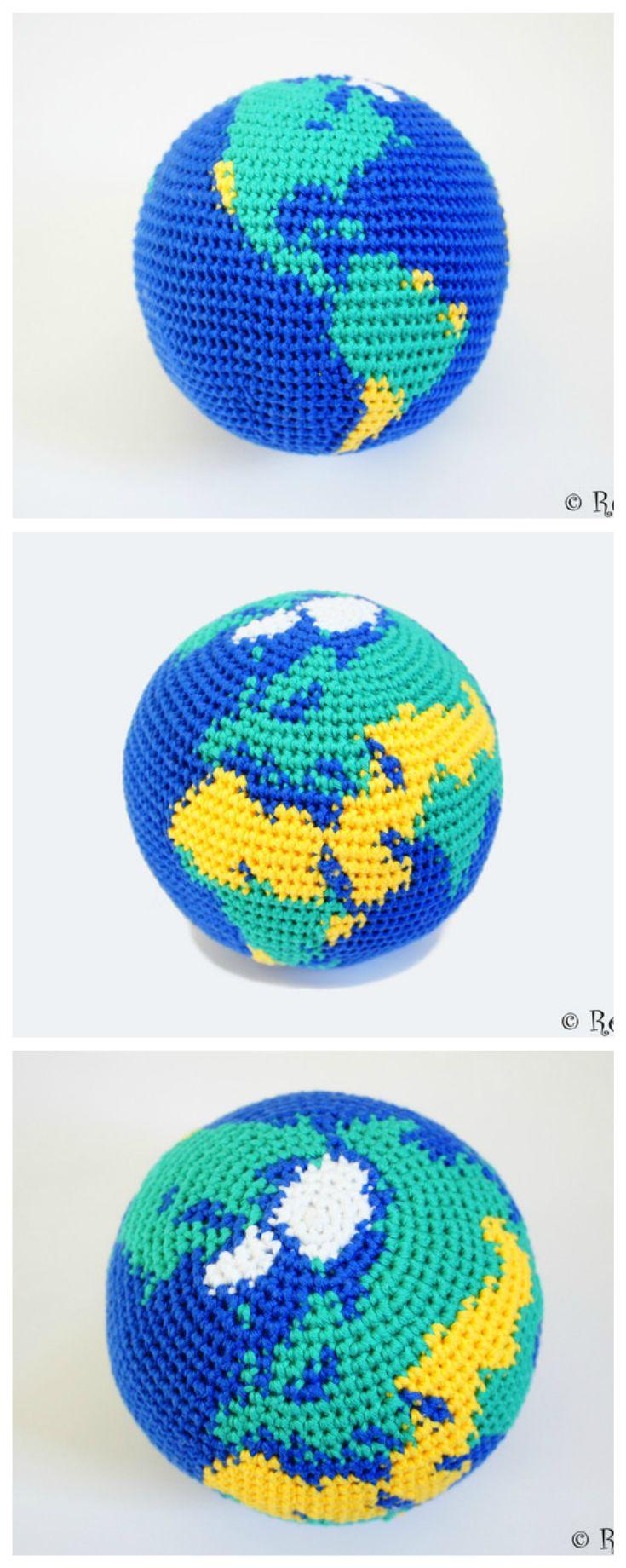 Häkelanleitung für deine eigene Weltkugel/ crochet instructions for your very own globe made by Renirumi via DaWanda.com