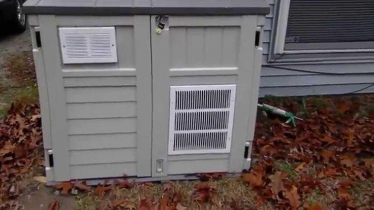 Suncast Generator Shed Homemade Solar Powered Shop On