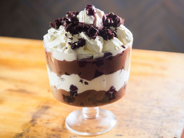 Get this all-star, easy-to-follow Black Forest Trifle recipe from Katie Lee