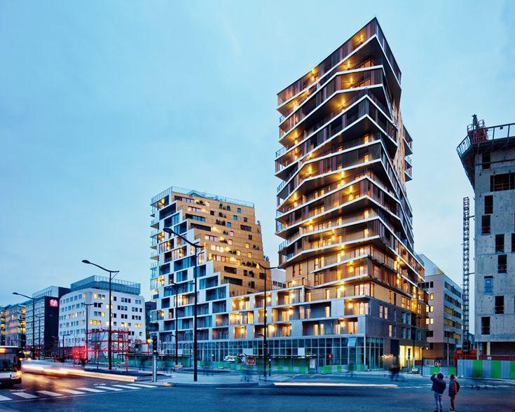 hamonic + masson and comte vollenweider stack parisian housing complex