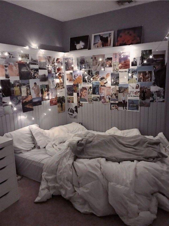 70 Petites Idees De Chambre A Coucher Qui Font Gagner De L Espace 13 Design D Inter Idee Chambre Chambre Deco Ado Deco Chambre Cocooning