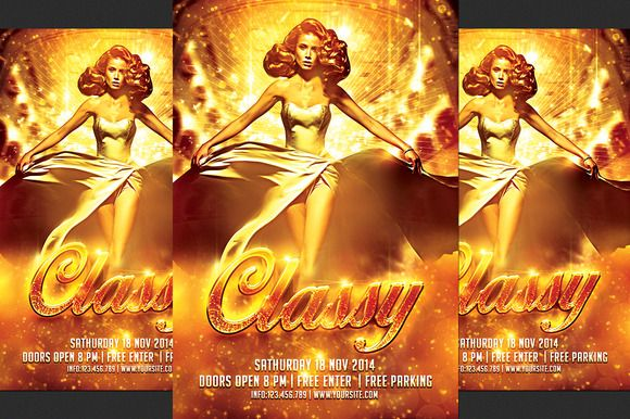Classy Party Flyer by ionescu_stefania on @creativemarket