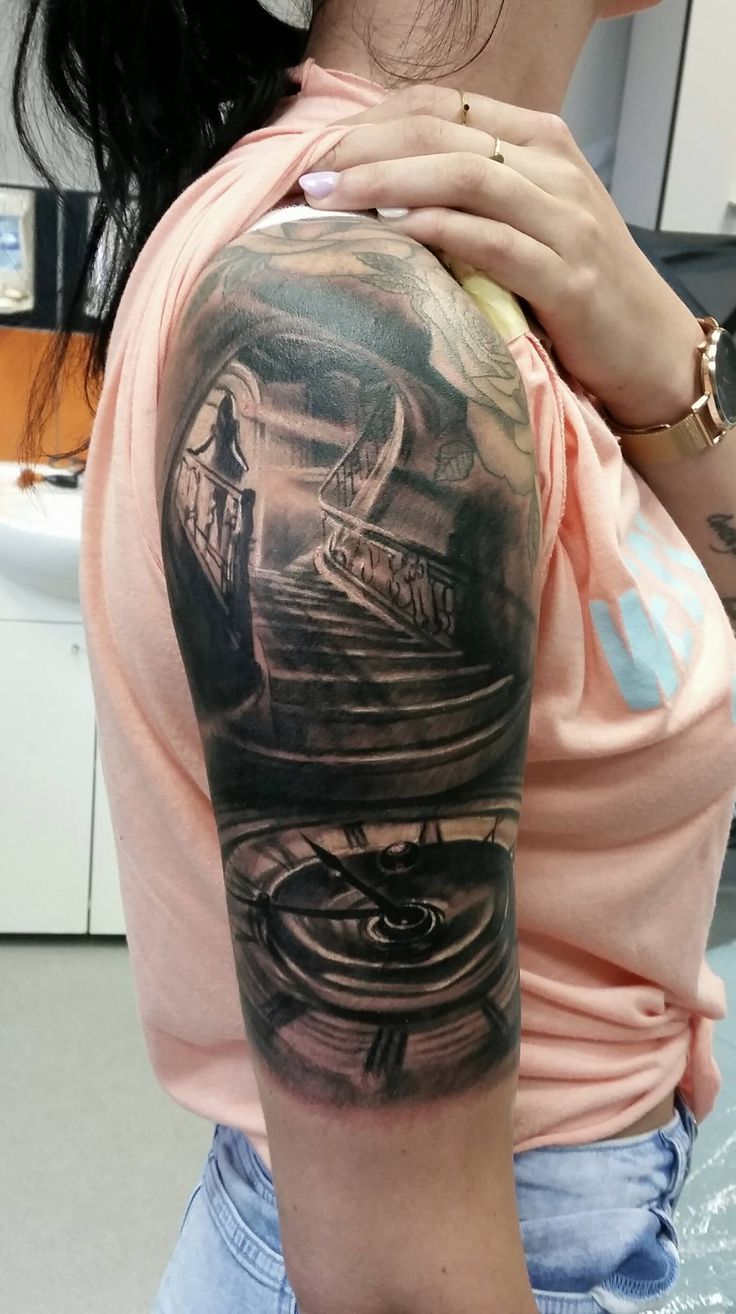 Best 25 staircase tattoo ideas on pinterest clock for Revival tattoo and piercing