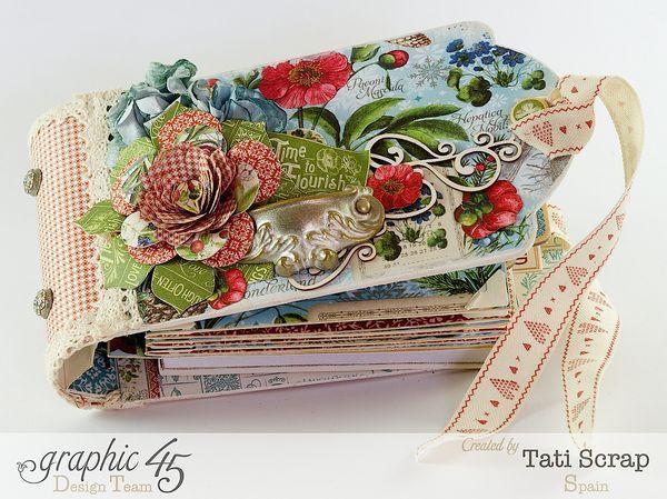 """Time to Flourish"" Mini Album by Tati Scrap for Graphic 45 Design Team ~ Graphic 45 Projects"