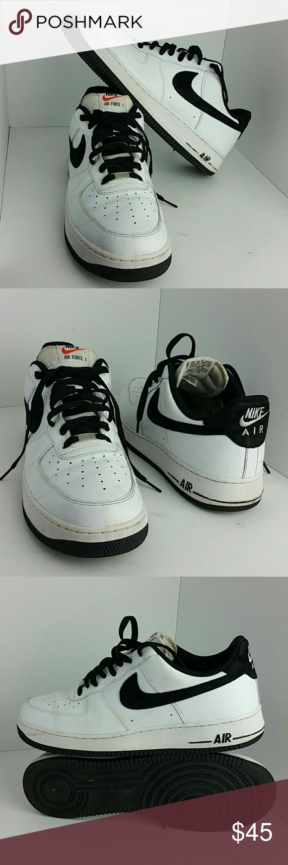 NIKE AIR FORCE 1 LOW MEN'S SHOES IN GOOD CONDITION   SKE # NB NIKE Shoes Athletic Shoes