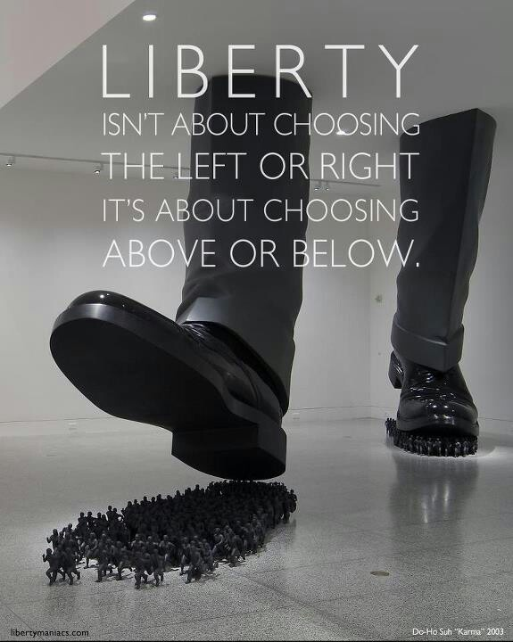 Liberty isn't about choosing the left or right. It's about choosing above or below.