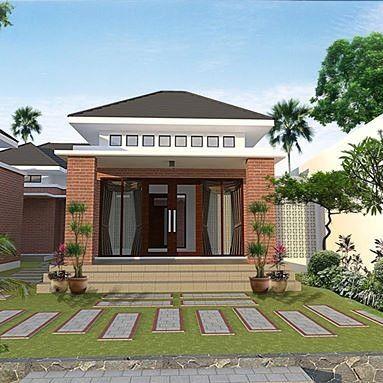 model rumah minimalis sederhana tampak depan | teras bata