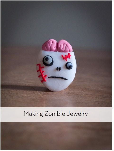 Yesterday's roundup of Zombie crafts and treats left me with a craving. Not for human flesh but for some Zombie jewelry.