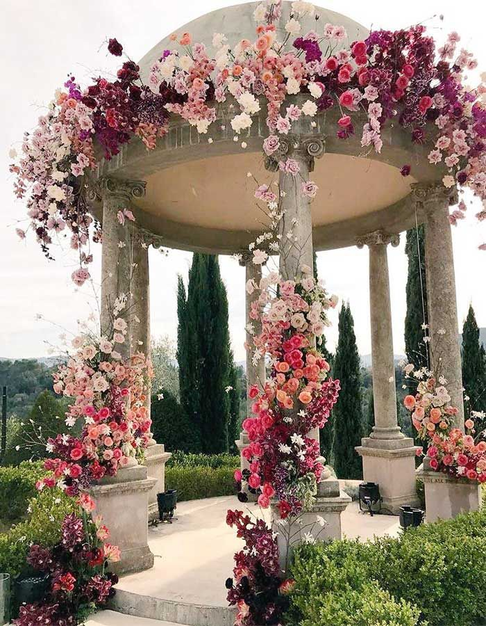 "Say ""I Do"" at your wedding under this gorgeous garden gazebo."