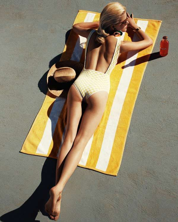 Demure Poolside Editorials - The Ashley Smith The Sunday Telegraph is Elegant and Sophisticated (GALLERY)