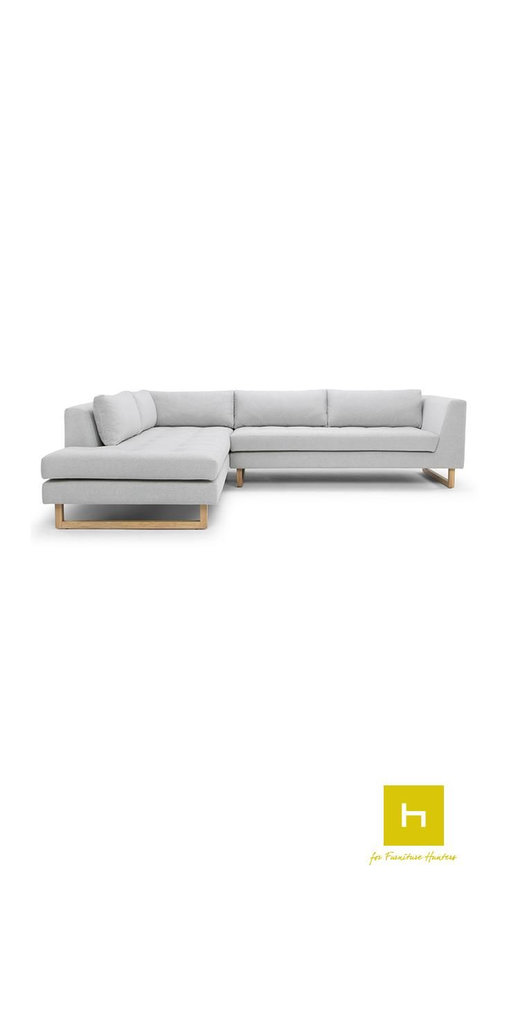 The Emilio Chaise from Scandinavian Design has a beautiful, elegant design sitting on stunning wooden feet.  The Scandinavian Design movement is defined by simplicity, minimalism and functionality. Sharing its origin with the modernist movement it focuses on beautiful and functional everyday objects. #design #interiordesign #furniture #furnituredesign