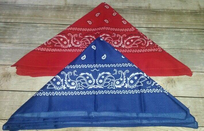 Boeren zakdoeken voor het verdelen van de teams (gekocht bij www.fun-en-feest.nl)