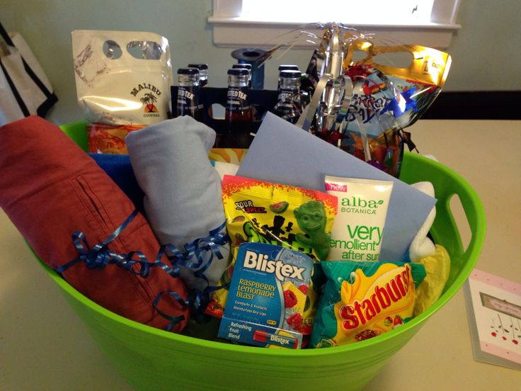 Best 25 vacation gift basket ideas on pinterest dyi gift vacation gift basket for my boyfriend negle Images