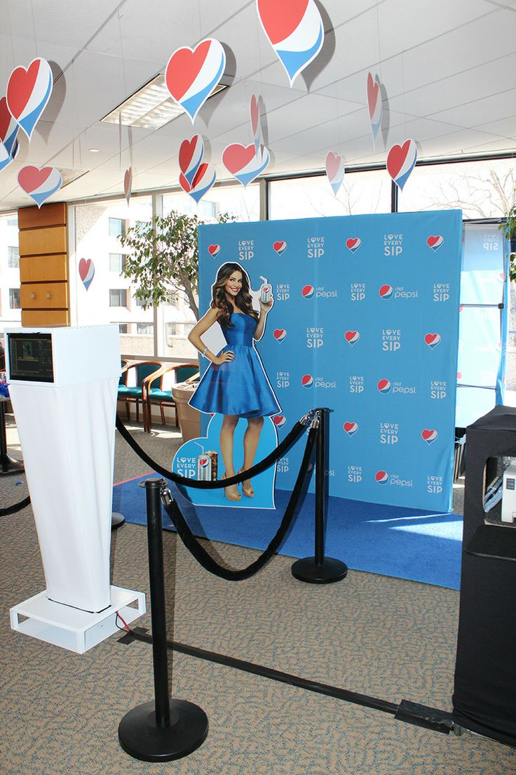 Pepsi Step & Repeat Photo Station with Sofia Vagara Cut Out!