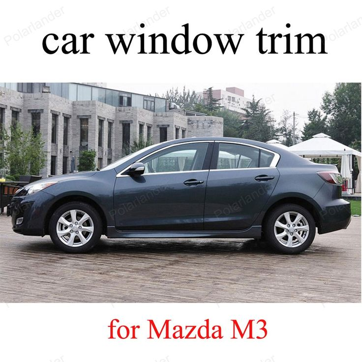 Stainless Steel Car Window Trim For Mazda M3  Decoration Strips car styling without column