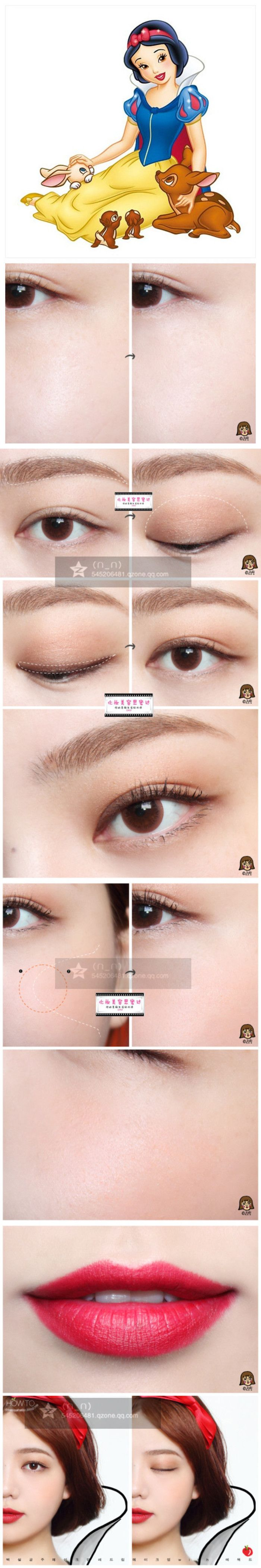 korean snow white disney princess makeup tutorial