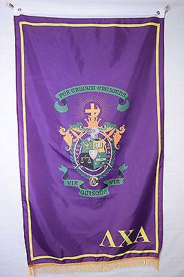 Lambda Chi Alpha College Fraternity Official Licensed Flag Banner Fringe 3x5