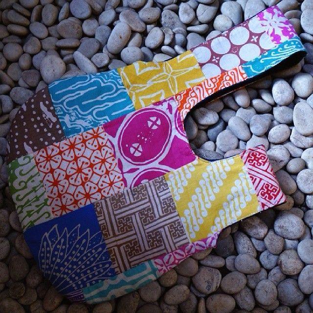 #reversible #purse #batik #perca