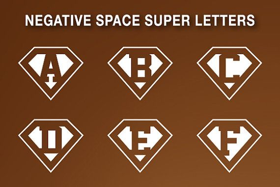 Alphabet letters in Superman logo style.  26 letters designed in Illustrator, 100% vector shapes  The zip file include:  - 26 transparent png files for black;  - 1 eps and 1 ai vector layered for black;  - 26 transparent png files for white;  - 1 eps and 1 ai vector layered for white.