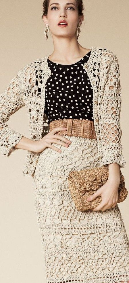 d & g crochet suiting ♥✤ | Keep Smiling | BeStayBeautiful