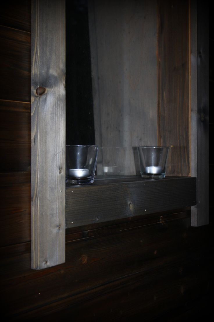 ... candles on the  window ...