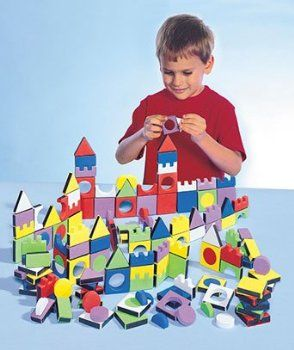 Magic Shapes 108 Piece Foam Blocks Magnetic Building Block Set