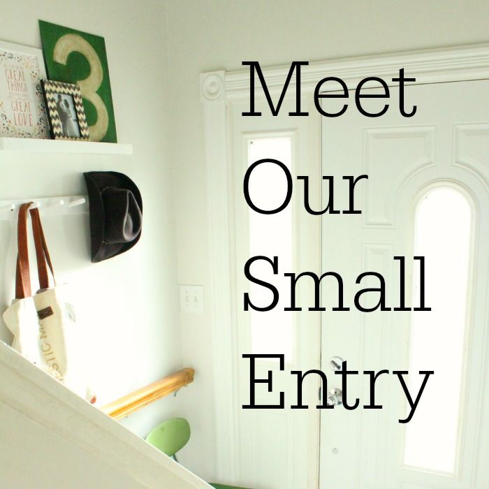 Meet Our Small Entry - adding function and personality to a small entry