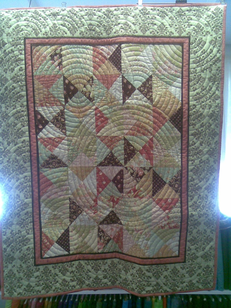 """""""Turnover Pond"""" Jan 2013 (Kit or Pattern available from """"Little Desert Quilts"""" The pattern for this quilt is now in Handmade Magazine ( Vol 33, No 4)"""